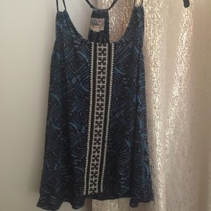 Urban Outfitters Black and Blue Tank